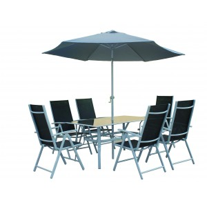 6 Seater Aluminium Dining Set