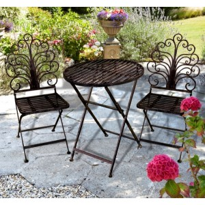 Ornate Iron Bistro Set