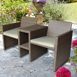 Brown Rattan Companion Seat