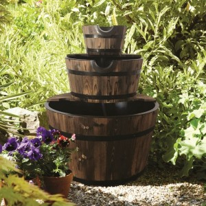 Burntwood 3 Tier Barrel Water Feature