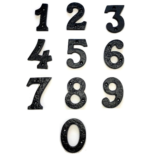 Antique Black House Numbers