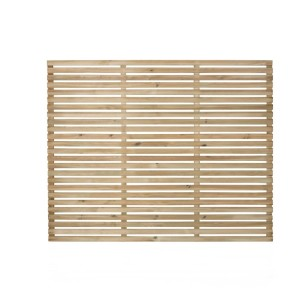 Slatted Fence Panel 180 x 150cm