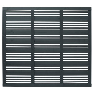 Contemporary Mixed Slatted Fence Panel 180 x 180cm - Grey