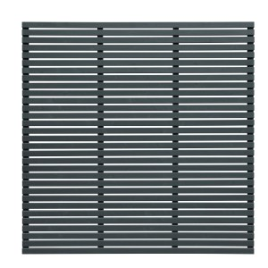 Slatted Fence Panel 180 x 180cm - Grey