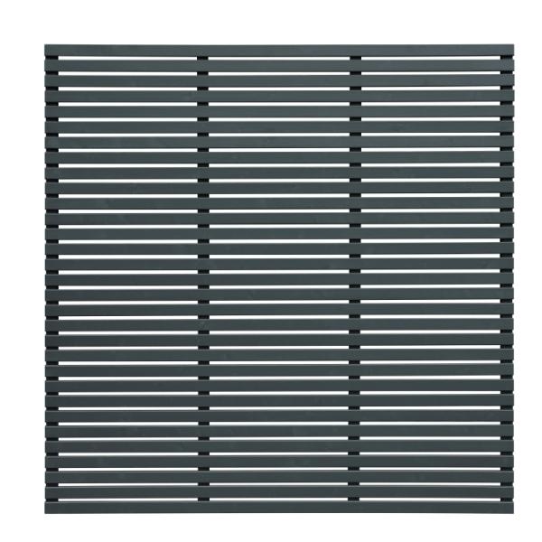 Slatted Fence Panel 180 x 180cm - Grey