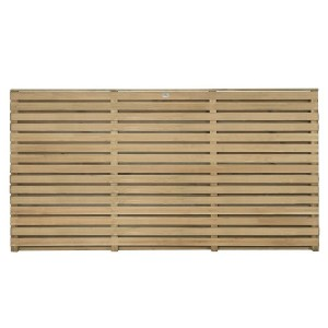 Double Slatted Fence Panel 3ft
