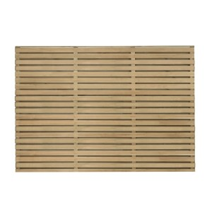 Double Slatted Fence Panel 4ft
