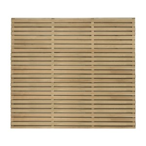 Double Slatted Fence Panel 180 x 151cm