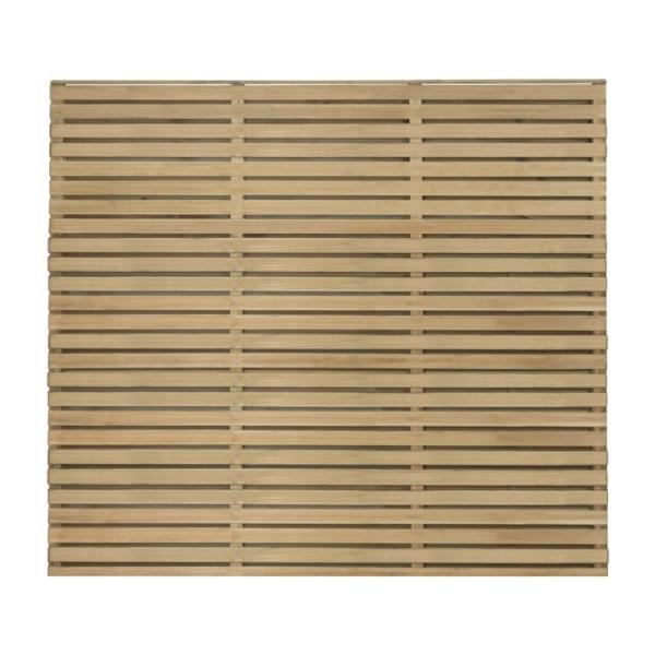 Double Slatted Fence Panel 180 x 151cm