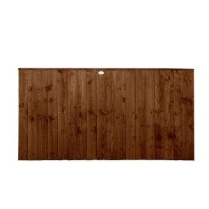 Featheredge Dark Brown Fence Panel 3ft