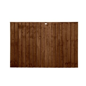 Featheredge Dark Brown Fence Panel 4ft