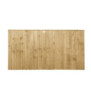 Featheredge Pressure Treated Fence Panel 3ft