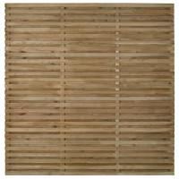 Double Slatted Fence Panel 180 x 180cm