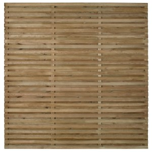 Double Slatted Fence Panel 6ft