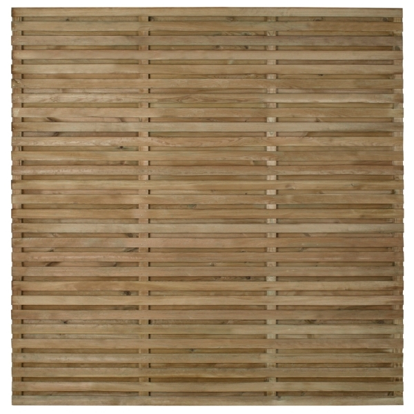 Double Slatted Fence Panel 180 x 180cm