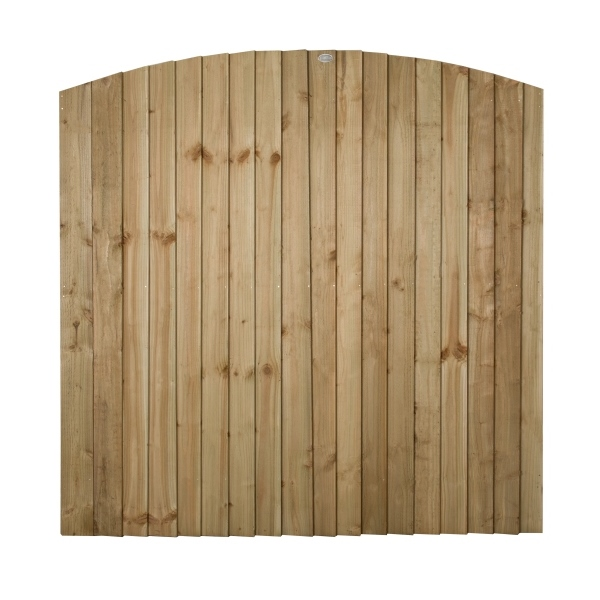 Featheredge Contractor Dome Top Fence Panel 6ft