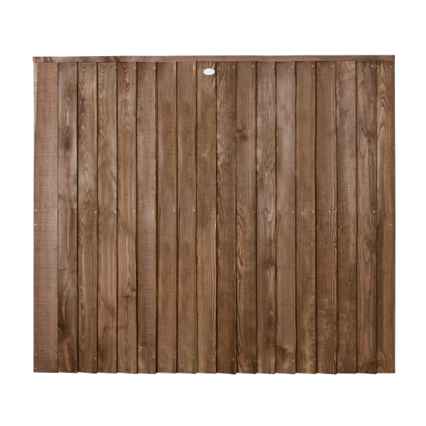 Featheredge Contractor Fence Panel Chestnut Brown 5ft