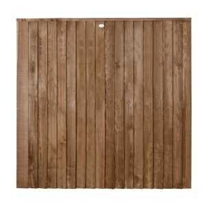 Featheredge Contractor Fence Panel Chestnut Brown 6ft