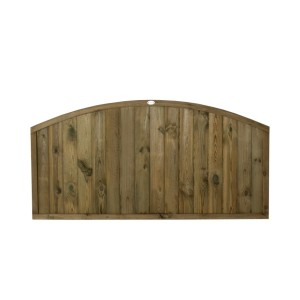 Dome Top Tongue and Groove Fence Panel 3ft