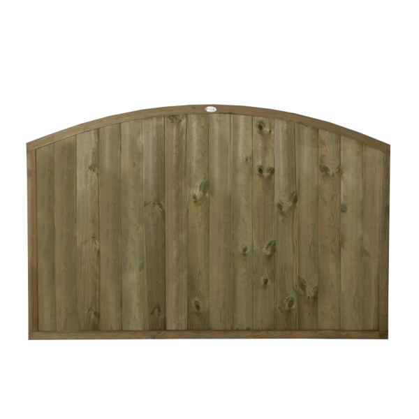 Dome Top Tongue and Groove Fence Panel 4ft