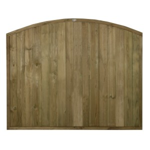Dome Top Tongue and Groove Fence Panel 5ft