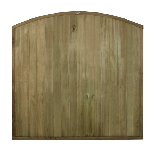 Dome Top Tongue and Groove Fence Panel 6ft