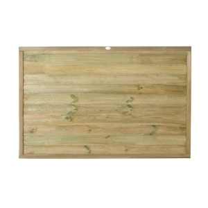 Tongue and Groove Horizontal Board Fence Panel 4ft