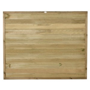 Tongue and Groove Horizontal Board Fence Panel 6 x 5ft