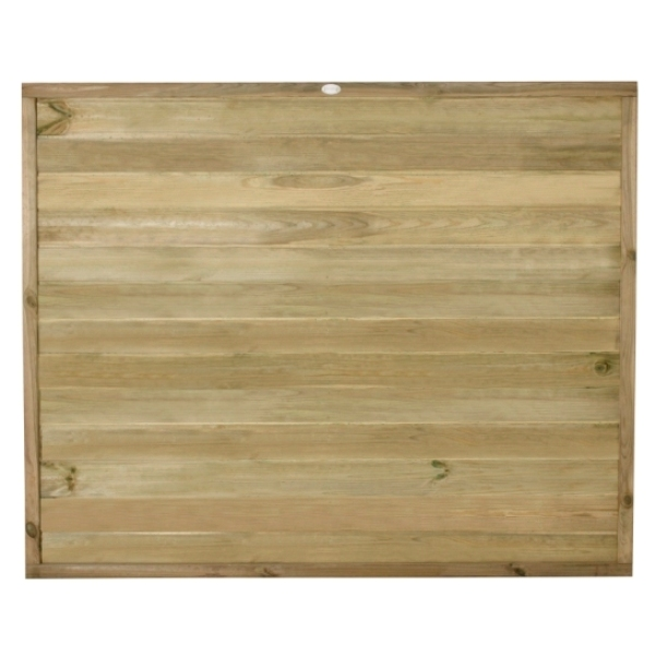 Tongue and Groove Horizontal Board Fence Panel 5ft