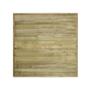 Tongue and Groove Horizontal Board Fence Panel 6ft