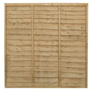 Trade Lap Fence Panel 6ft (Pressure Treated)