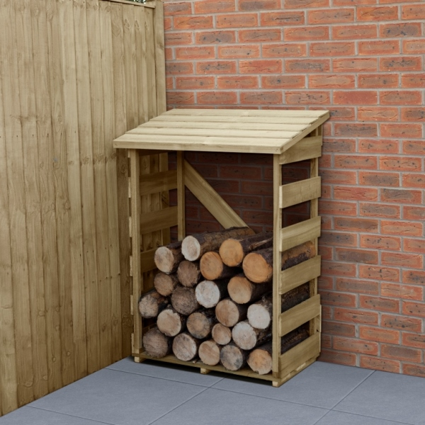 Compact Wooden Log Store