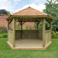 4m Hexagonal Gazebo