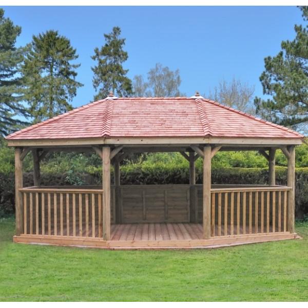 6m Premium Oval Gazebo