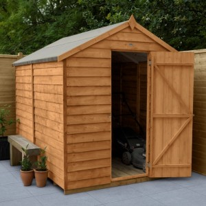 Overlap Dip Treated 6 x 8 Apex Shed - No Window