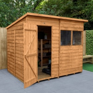Overlap Dip Treated 8 x 6 Pent Shed
