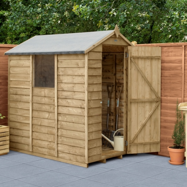 Overlap Pressure Treated 4 x 6 Apex Shed