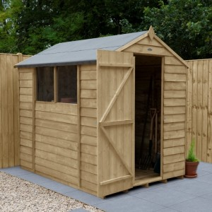 Overlap Pressure Treated 5 x 7 Apex Shed