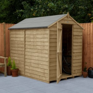Overlap Pressure Treated 5 x 7 Apex Shed - No Window