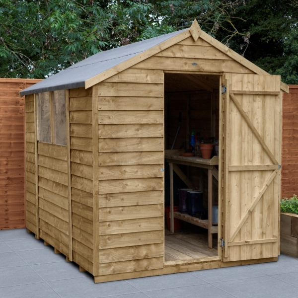 Overlap Pressure Treated 6 x 8 Apex Shed