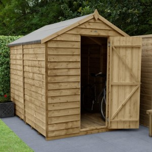 Overlap Pressure Treated 6 x 8 Apex Shed - No Window