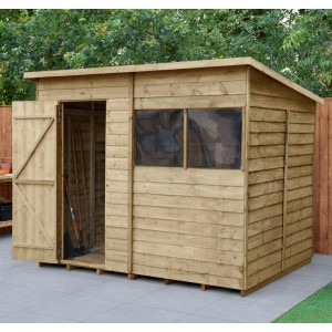 Overlap Pressure Treated 8 x 6 Pent Shed