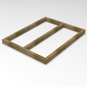 Forest Overlap 4 x 3 Shed Base