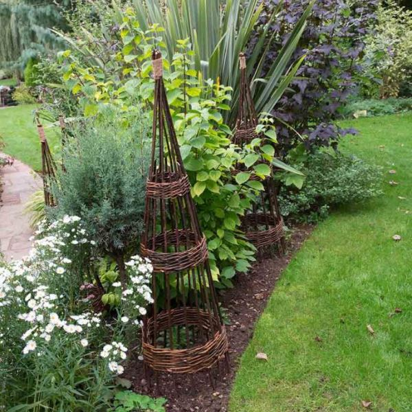 Concentric Willow Obelisk 1.5m - Pack of 2