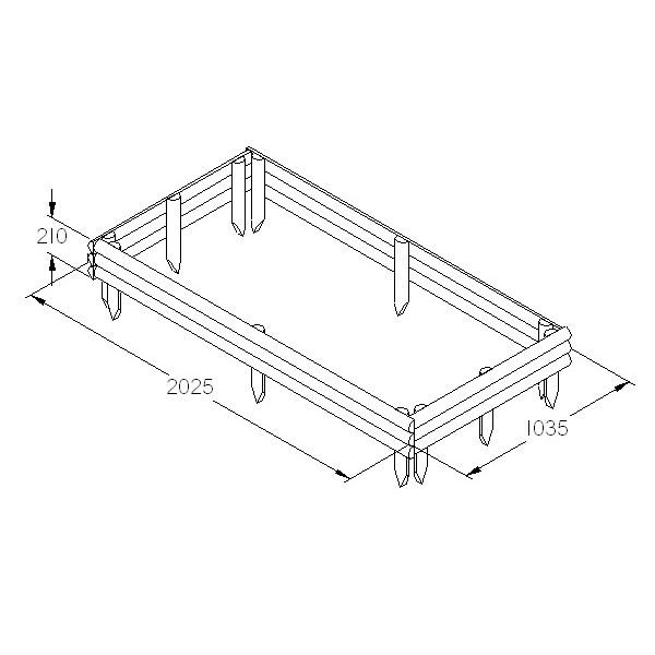 half log raised bed kit