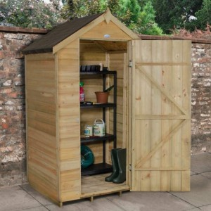 Overlap Pressure Treated 4 x 3 Apex Shed - No Window
