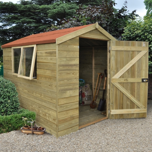 Tongue And Groove Pressure Treated 6 x 8 Apex Shed