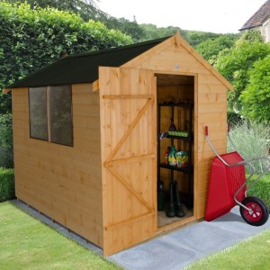 Shiplap Dip Treated 6 x 8 Apex Shed - With Onduline Roof