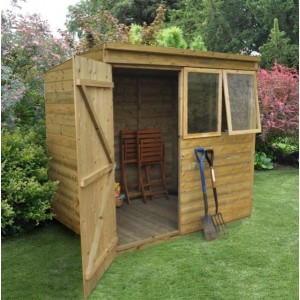 Tongue And Groove Pressure Treated 7 x 5 Pent Shed