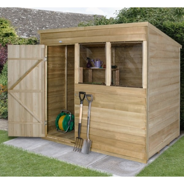 Overlap Pressure Treated 7 x 5 Pent Shed